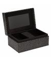 Juwelen doosje met spiegel 18 cm
