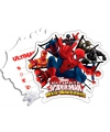 Spiderman Warriors feest uitnodigingen 6 stuks