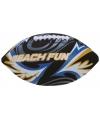 Zachte rugby ballen zwart 27 cm