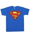 Film shirt Superman logo heren
