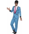 Blauw jaren 50 kostuum Teddy Boy