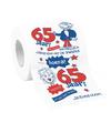 65 jaar feest wc papier