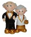 Gouden bruidspaar poppetjes