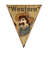 Cowboy versiering vlaggenlijn 5 meter