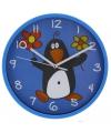 Kinder klok pinguin blauw