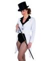 Witte circus jas dames